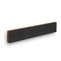 BeoSound Stage Smoked Oak Frame with  Grey Kvadrat Fabric cover